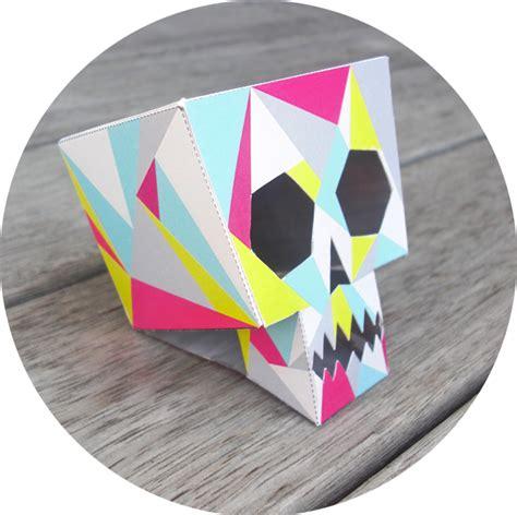 retro skull  cool cubist halloween decoration