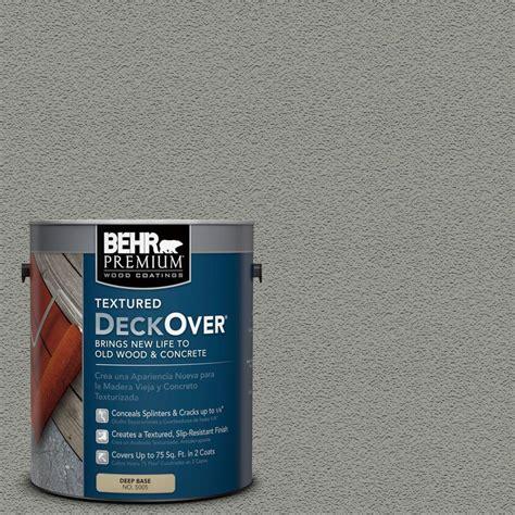 Behr Deck Cleaner No 64 by Behr Premium Textured Deckover 1 Gal Sc 143 Harbor Gray