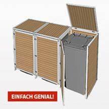 Mülltonnenverkleidung Selber Bauen : m lltonnenbox m lltonnenverkleidung bauplan f r f r drei ~ Watch28wear.com Haus und Dekorationen