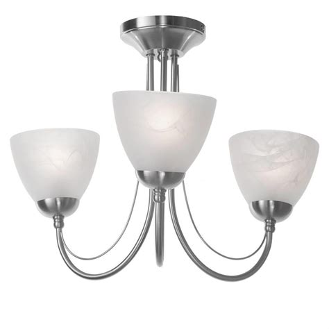 barcelona 3 light ceiling light satin chrome from litecraft