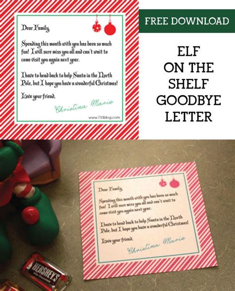 shelf elf goodbye letter elf   shelf shelf ideas