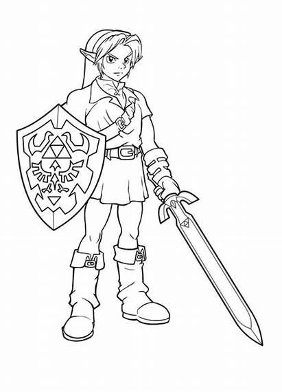 Coloring Zelda Pages Printable Link Smash Sheets