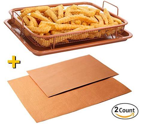 air fryer pan copper non crisper safe grill sheet baking stick mesh tray chef oven square purpose multi deluxe piece