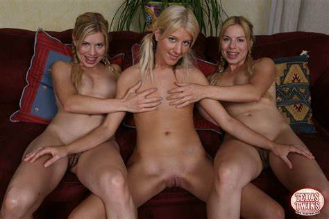 Twins Flat Chick Exposing Other Texas Ffm Hole