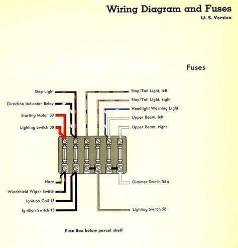 1962 Beetle Fuse Box by 1959 Wiring Diagram Usa Thegoldenbug