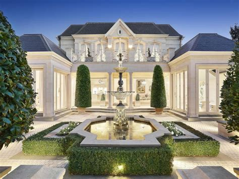 french chateau inspired limestone home  victoria