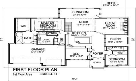 Single Story Open Floor Plans Single Story House Plans