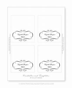 10 best images of place card template printable With templates for place cards for weddings