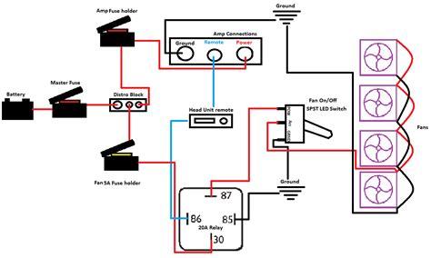 relay question car audio diymobileaudio help wiring fans to a relay to cool car audio diymobileaudio car stereo