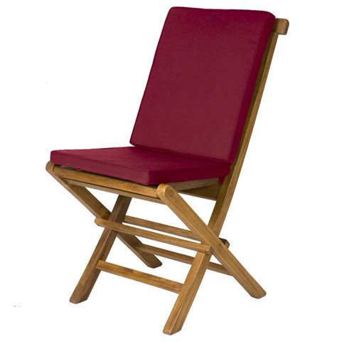 2 folding chair cushions maroon traditional outdoor