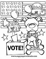 Election Coloring Pages Voting Printable Vote Dog Days Print Kindergarten Craft Getcolorings Getcoloringpages Under Printcolorcraft sketch template