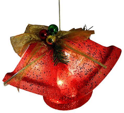 lighted christmas bells windows northlight seasonal glittered battery operated lighted led