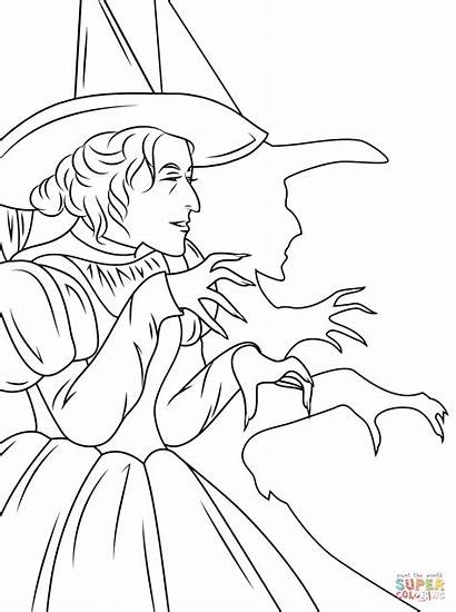 Coloring Wizard Witch Oz Wicked Pages Printable