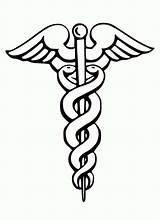 Medical Coloring Symbol Caduceus Doctor Stethoscope Medicine Dr Eye Tools Template Bazile Sponsors Coloringsky sketch template