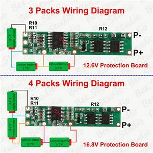 Battery Bms Protection Pcb Board 3  4 Packs 18650 Li