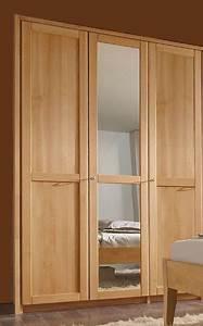 Kleiderschrank Buche Natur : 3trg kleiderschrank mit spiegel 143x216x61 cm buche massiv ge lt ~ Markanthonyermac.com Haus und Dekorationen