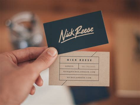 nick reese business card inspiration cardfaves
