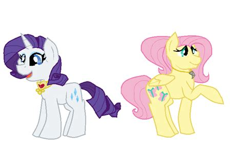Future Fluttershy And Rarity By Maddi-sans On