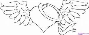 How to Draw an Angel Heart, Step by Step, Tattoos, Pop ...