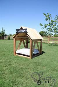 19 wooden dog beds to create for your furry four legged With how to build a small dog house