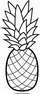 Pics For > Black And White Pineapple Png
