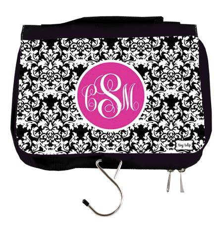 monogrammed travel cosmetic hanging bag tinytulipcom
