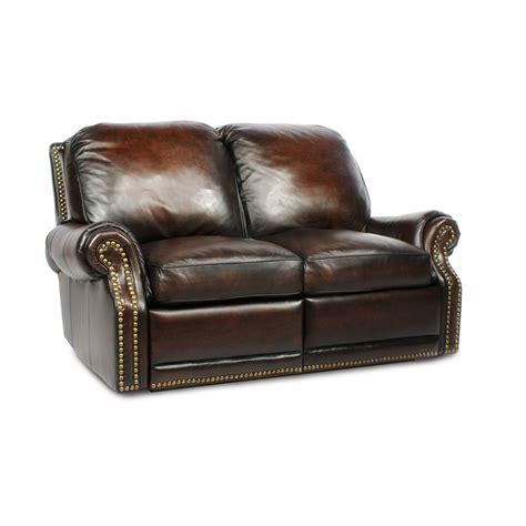 barcalounger premier ii leather  seat loveseat sofa
