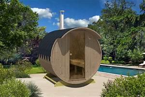 Wochenendhäuser Aus Holz : thermoholz fass sauna jonas mit harvia holz ofen ~ Frokenaadalensverden.com Haus und Dekorationen