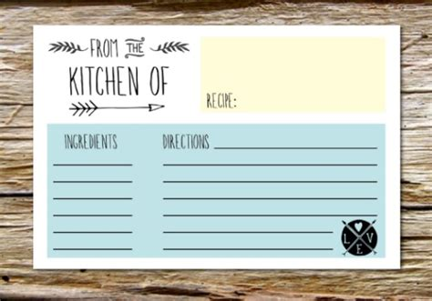 s day recipe card template 10 printable recipe card templates free tip junkie
