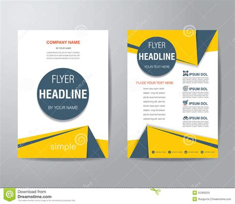 one page flyer template corporate brochure flyer design layout template in a4 size