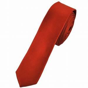 Plain Brick Red Super Skinny Tie from Ties Planet UK
