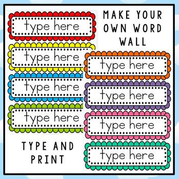word wall template free editable word wall template by clever classroom tpt