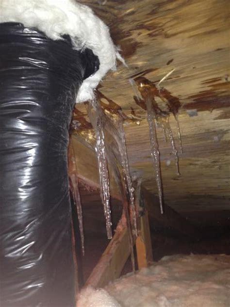 leaky roof  bathroom exhaust vent doityourselfcom