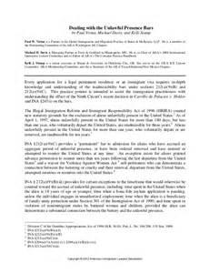 Immigration Hardship Letter Sample
