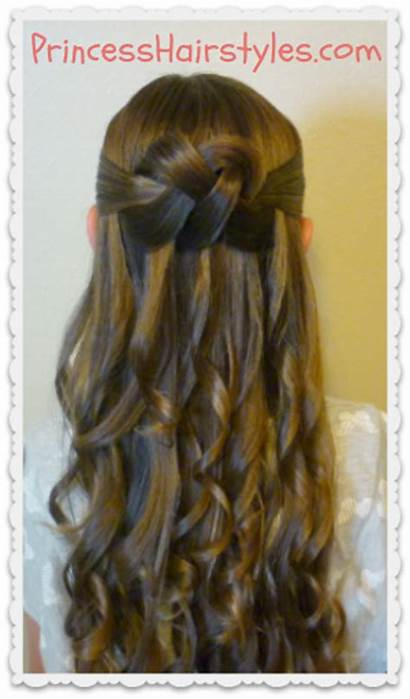 Half Hairstyle Knot Woven Prom Homecoming Hairstyles