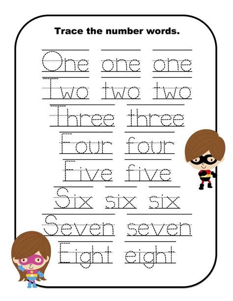 number word worksheets printable spelling numbers in