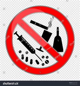 No Smoking Alcohol Drugs Stock Vector 254471923 - Shutterstock