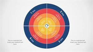 4 Quadrants 4 Layers Circular Powerpoint Diagram
