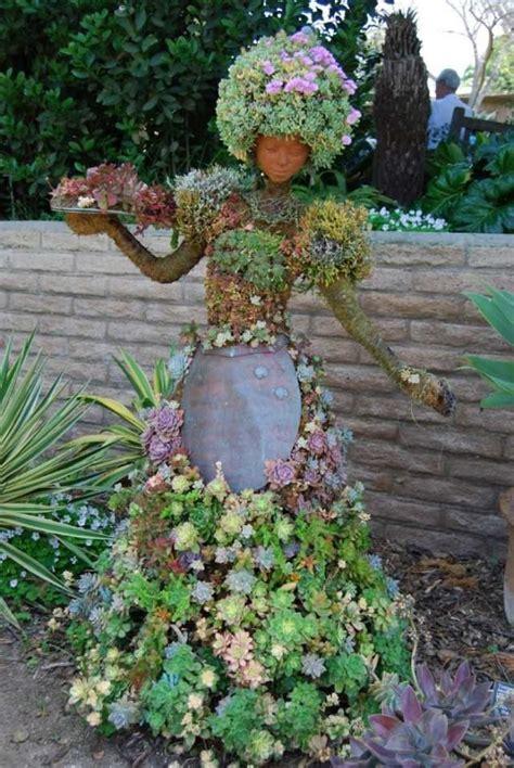 Sukkulenten Garten Anlegen by Garten Skulpturen Ideen Frau Kleid Sukkulenten Haare