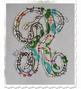 raggy fancy monogram applique machine embroidery alphabet font With applique letters machine embroidery