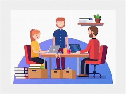 Animation Workstation Team Working Teamwork Together Company