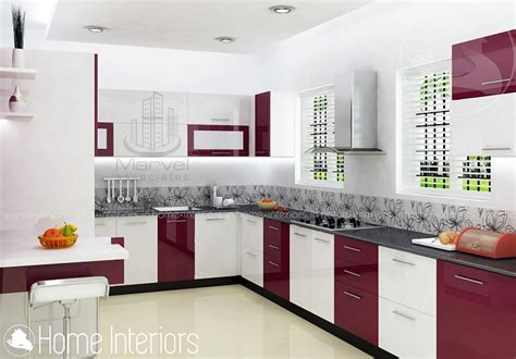 Interior In Kitchen by Fascinating Contemporary Budget Home Kitchen Interior Design