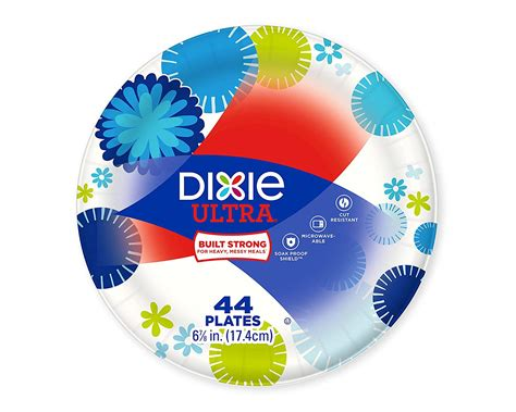 Dixie Ultra Disposable Paper Plates 6 7 8 Inch 44 Count