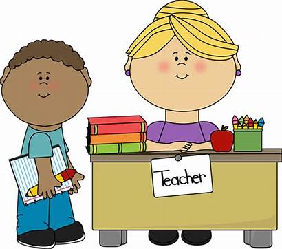 Teacher Student Boy Desk Clip Graphics Teachers