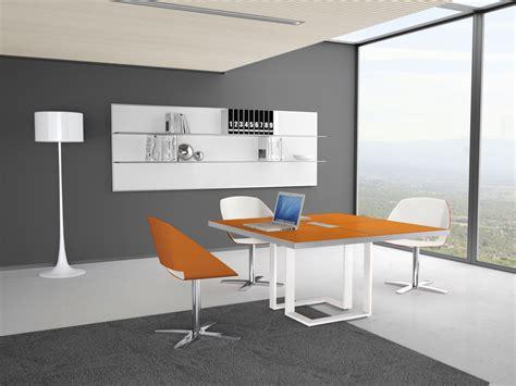 modern white table l orange square modern white table ambience doré