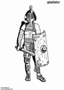 malvorlage, gladiator