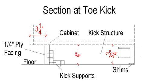 kitchen cabinet toe kick height how to make cabinet toe kicks stonehaven