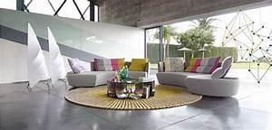 reportage canape 4 places arrondi roche bobois With tapis exterieur avec canape roche bobois promotion