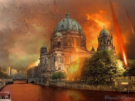 wallpapers berlin germany apocalypse fantasy flame rivers