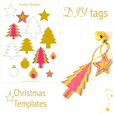 christmas templates freebies free printable holiday templates tree star and bauble